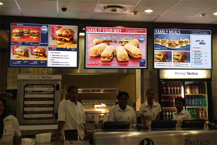 Building multi channel digital signage opportunities in for Restaurant builder software