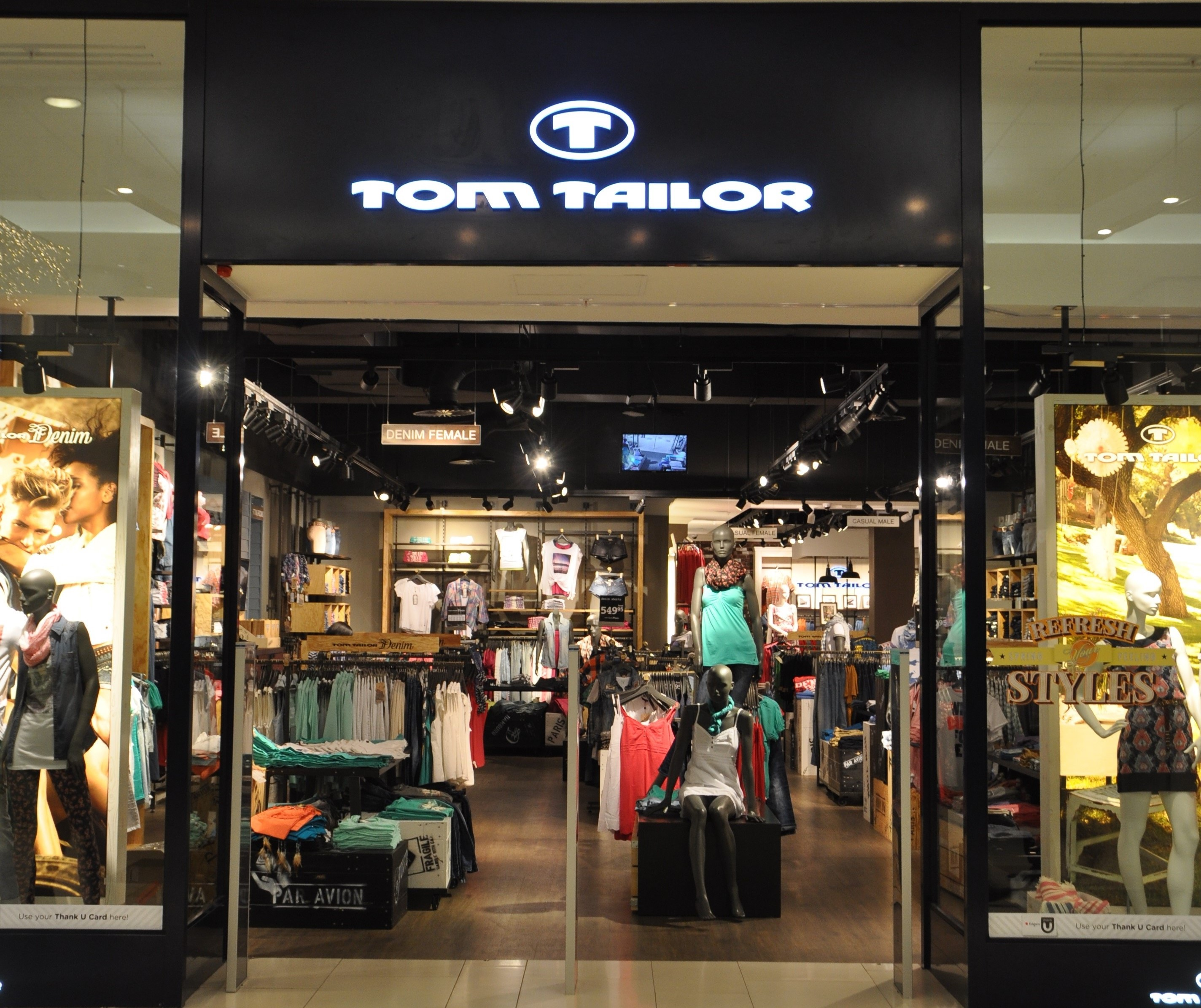 Edgars deploys in-store digital media at new Tom Tailor store
