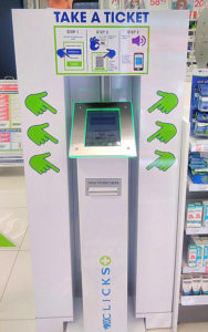 Clicks Virtual Queue Solution Kiosk